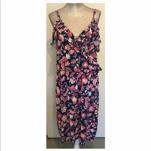 NEW Joe Fresh Women's Floral Cold Shoulder Dress